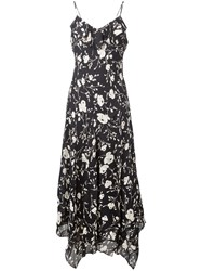 Polo Ralph Lauren Floral Slip Dress Black