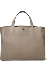 Valextra Brera Large Textured Leather Tote Taupe