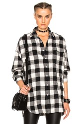 R 13 R13 X Oversized Top In Checkered And Plaid Checkered And Plaid