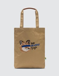 Maison Kitsune Ader Error X Fox Head Tote Brown