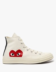 Comme Des Garcons Play Converse High In Beige