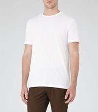 Reiss Bless Mens Crew Neck T Shirt In White