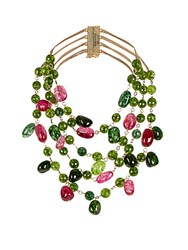 Rosantica By Michela Panero Kiwi Tourmaline And Agate Necklace Green Multi