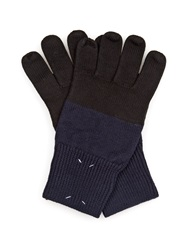 Maison Martin Margiela Bi Colour Wool Blend Gloves