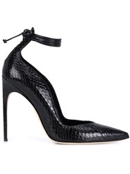 Brian Atwood Ankle Wrap Pumps Black