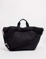 Steve Madden Workout Padded Tote In Black