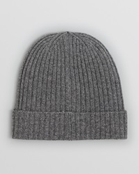 The Men's Store At Bloomingdale's Ribbed Knit Cuffed Beanie Light Grey