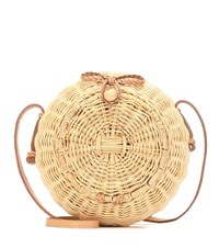 Ulla Johnson Pomme Wicker Shoulder Bag Beige