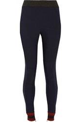 Stella Mccartney Christiane Stretch Cotton Blend Twill Leggings