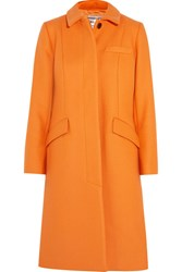 Paul And Joe Bonnie Wool Blend Coat Orange