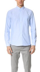 Ami Alexandre Mattiussi Button Down Oxford Shirt Light Blue