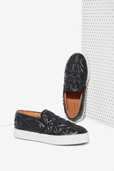 Nasty Gal Jeffrey Campbell Sarlo 3D Leather Slip On Sneaker