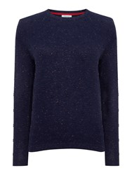 Dickins And Jones Sparkle French Knot Jumper Navy