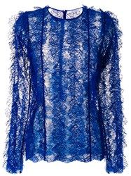 Givenchy Textured Lace Top Blue