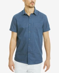 Kenneth Cole Reaction Men's Quote Mark Cotton Shirt Oxford Combo