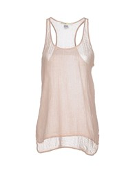Ottod'ame Topwear Vests Women Light Pink