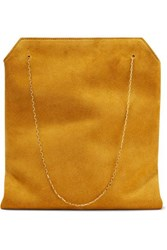 The Row Lunch Bag Small Suede Tote Saffron