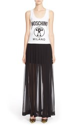 Women's Moschino Graphic Silk Tank Maxi Dress