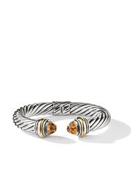 David Yurman Cable Citrine And 14Kt Yellow Gold Detailed 10Mm Cuff S4aci