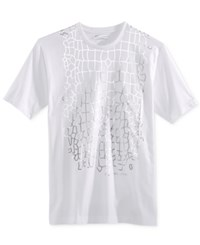 Sean John Men's Armor Plate Graphic Print T Shirt White