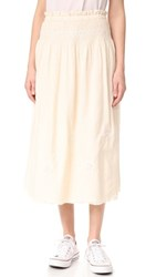 Current Elliott The Rancher Convertible Skirt Dress Macadamia With Cream