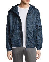 Jachs Ny Printed Hooded Anorak Jacket Navy