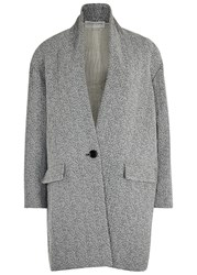 Etoile Isabel Marant Edilon Grey Herringbone Coat