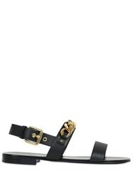 Giuseppe Zanotti Homme Leather Sandals With Metal Chain Detail