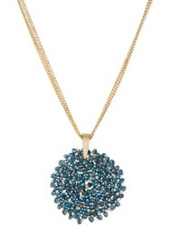 Kenneth Cole Gemstone Pendant Drop Necklace Blue