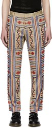 Ports 1961 Beige Embroidered Trousers