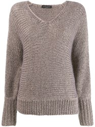 Fabiana Filippi V Neck Jumper Neutrals
