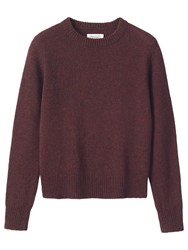 Toast Shetland Neat Wool Jumper Bordeaux