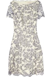 Tory Burch Summer Guipure Lace Mini Dress Blue