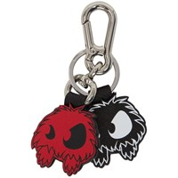 Mcq By Alexander Mcqueen Black And Orange Monsters Keychain