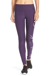 Nike Women's Power Legendary Graphic Tights Purple Bleached Lilac Black