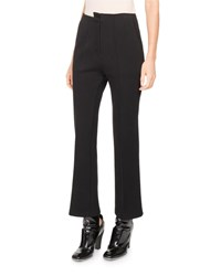 Atlein Asymmetric High Waist Kick Flare Pants Black