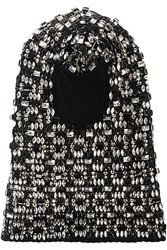 Dolce And Gabbana Embellished Wool Balaclava Black