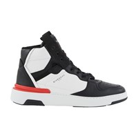 Givenchy Wing High Top Trainers Black White Red