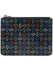 Paul Smith Ps By Textured Tear Drop Print Zipped Wallet Men Calf Leather One Size Black