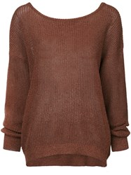 Cityshop Classic Long Sleeve Sweater Brown