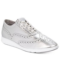 Cole Haan Grand Tour Oxford Sneakers Women's Shoes Silver Metallic