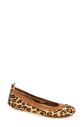 Yosi Samra 'Samara' Genuine Calf Hair Foldable Ballet Flat Women Leopard