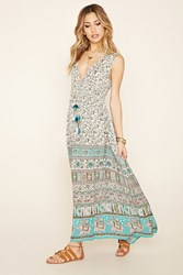 Forever 21 Raga Elephant Print Maxi Dress