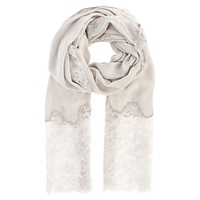 Coast Lace Insert Scarf Silver