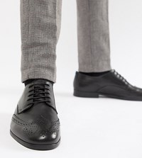 Hudson H By Wide Fit Aylesbury Brogues In Black Leather