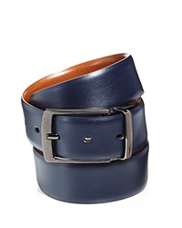 Bloomingdale's The Men's Store At Reversible Leather Belt Navy Brown