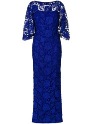 Lauren Ralph Lauren Long Lace Gown Blue