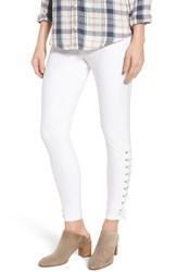 Nordstrom Lace Up Denim Leggings White