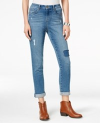 Styleandco. Style Co. Petite Patchwork Putnam Wash Boyfriend Jeans Only At Macy's
