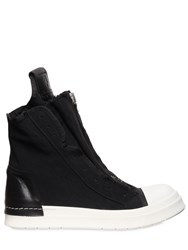 Cinzia Araia Zip Canvas And Leather High Top Sneakers